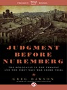 Judgment Before Nuremberg (eBook): The Holocaust in the Ukraine and the First Nazi War Crimes Trial