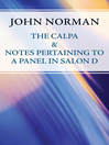 Calpa & Notes Pertaining to a Panel in Salon D (eBook)