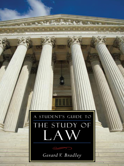 A Student's Guide to the Study of Law (eBook)
