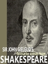 Sir John Gielgud's Favourite Scenes from Shakespeare (MP3)