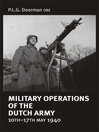 Military Operations of the Dutch Army 10-17 May 1940 (eBook)