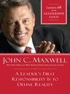 Chapter 8: A Leader's First Responsibility is to Define Reality (eBook)