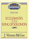 Thru the Bible Volume, 21 (eBook): Poetry (Ecclesiastes / Song of Solomon)