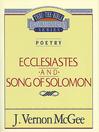 Thru the Bible Volume, 21 (eBook): Poetry (Ecclesiastes / Song of Solomon)