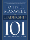 Leadership 101 (eBook): What Every Leader Needs to Know