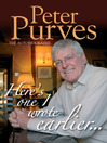 Peter Purves: The Autobiography (eBook): Here's One I Wrote Earlier