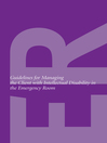 Guidelines for Managing the Client with Intellectual Disability in the Emergency Room (eBook)