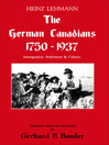The German Canadians 1750-1937 (eBook): Immigration, Settlement and Culture