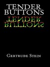 Tender Buttons (eBook)