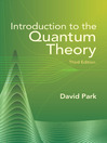 Introduction to the Quantum Theory (eBook)