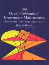100 Great Problems of Elementary Mathematics (eBook)