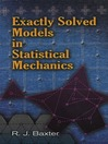 Exactly Solved Models in Statistical Mechanics (eBook)