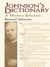 Johnson's Dictionary (eBook): A Modern Selection