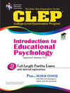 CLEP Introduction to Educational Psychology (eBook)