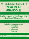 Numerical Analysis II Essentials (eBook)
