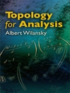 Topology for Analysis (eBook)