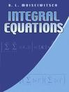 Integral Equations (eBook)