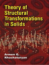 Theory of Structural Transformations in Solids (eBook)