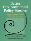 Better Environmental Policy Studies (eBook): How to Design and Conduct More Effective Analyses