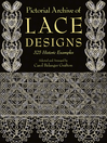 Pictorial Archive of Lace Designs (eBook): 325 Historic Examples