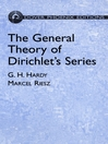The General Theory of Dirichlet's Series (eBook)