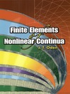 Finite Elements of Nonlinear Continua (eBook)