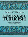 Elementary Turkish (eBook)