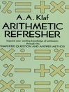 Arithmetic Refresher (eBook)
