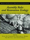 Assembly Rules and Restoration Ecology (eBook): Bridging the Gap Between Theory and Practice
