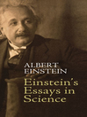 Einstein's Essays in Science (eBook)