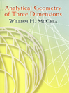 Analytical Geometry of Three Dimensions (eBook)