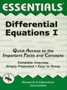Differential Equations I Essentials (eBook)
