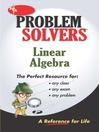 Linear Algebra Problem Solver (REA) (eBook)
