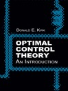 Optimal Control Theory (eBook): An Introduction