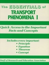Transport Phenomena I Essentials (eBook)