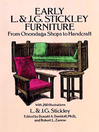 Early L. & J. G. Stickley Furniture (eBook): From Onondaga Shops to Handcraft