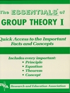 Group Theory I Essentials (eBook)