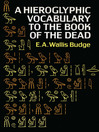 Hieroglyphic Vocabulary to the Book of the Dead (eBook)