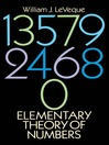 Elementary Theory of Numbers (eBook)