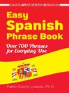 Easy Spanish Phrase Book (eBook)