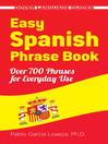 Easy Spanish Phrase Book (eBook)
