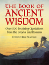 The Book of Ancient Wisdom (eBook): Over 500 Inspiring Quotations from the Greeks and Romans