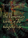 The Elementary Forms of the Religious Life (eBook)