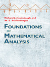 Foundations of Mathematical Analysis (eBook)
