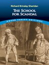 The School for Scandal (eBook)