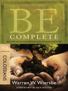 Be Complete (eBook): Become the Whole Person God Intends You to Be