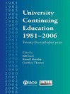 University Continuing Education 1981-2006 (eBook): Twenty-Five Turbulent Years