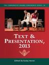 Text & Presentation, 2013 (eBook)