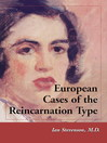 European Cases of the Reincarnation Type (eBook)