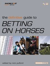 The Defintive Guide to Betting on Horses (eBook)